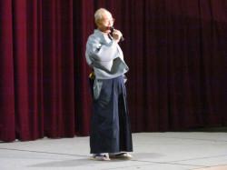 布施の北島三郎、金子新六さんによる歌の披露です。